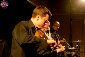 Michael Haywood - fiddler with HotScotch Ceilidh Band from Edinburgh, performing at Edinburgh Ceilidh Club